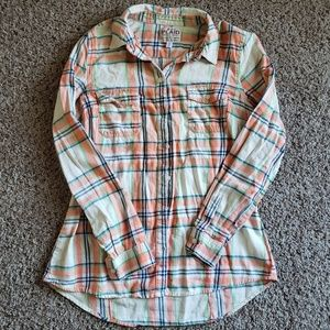 Old Navy plaid button down top
